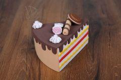 Dort - výkroj dortová hnědá