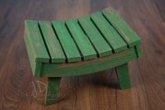 Stolička prohnutá - zelená patina