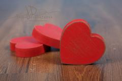 Srdíčko dřevěné - červená patina