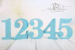 Sada číslic 1 až 5 - modrá patina