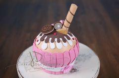 Dortík MAXI muffin růžový