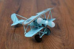 Letadlo plechové modré