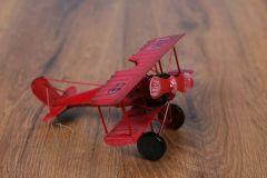 Letadlo plechové červené