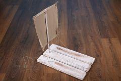 Vor dřevěný s plachtou bílá patina