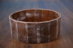 Vědro dřevěné - ořech patina