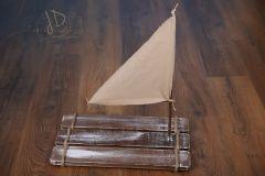 Vor dřevěný s plachtou ořechová patina