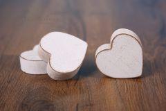 Srdíčko dřevěné - bílá patina malé