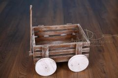 Vozík dřevěný - ořech patina