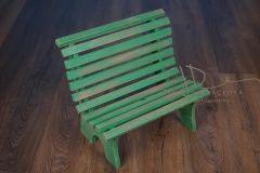 Lavička parková - zelená patina
