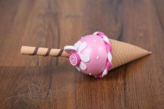 Zmrzlina dekorace - růžová