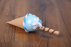 Zmrzlina dekorace - modrá