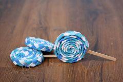 Lízátko dekorace modré