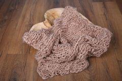 Pletená podložka merino - hnědá