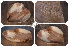 Mísa dřevěná dlabaná - srdce 3
