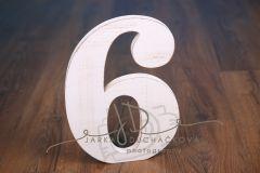 Číslice MAXI šestka bílá
