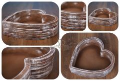Dřevěná mísa - vědro - srdce