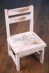 Dětská židlička - bílá