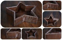 Hvězda - mísa - vědro hnědá patina hladká