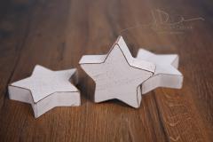 Hvězda dřevěná malá - patina