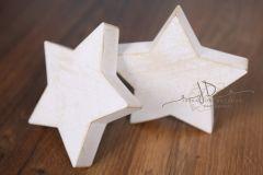 Hvězda - ozdoba - větší pozlacená