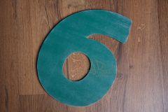 Číslo 6 - 30cm - zelená patina