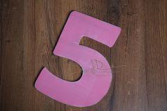 Číslo 5 - 30cm - růžová patina