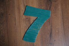 Číslo 7 - 30cm - zelená patina