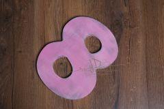 Číslo 8 - 30cm - růžová patina