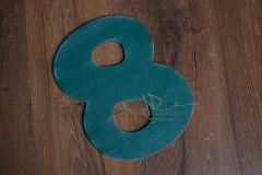 Číslo 8 - 30cm - zelená patina