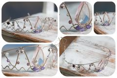 Čelenka drátková zdobená diamanty