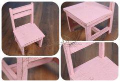 Dětská židlička - růžová