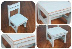 Dětská židlička - modrá