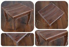 Stolek / stolička - dortový podnos - ořech patina