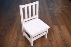 Dětská židlička - bílá mřížová provedení bílá patina