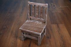Dětská židlička - hnědá mřížová provedení hnědá patina
