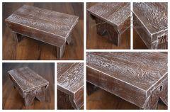Stolička - židlička retro hnědá