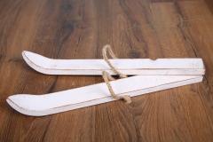 Lyže - bílá patina