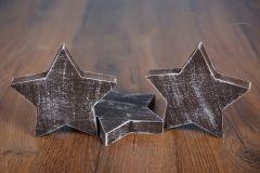Hvězda - ozdoba - větší hnědá patina