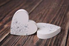 Srdce dřevěné bílé s motivem
