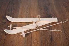 Lyže s hůlkami - přírodní