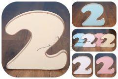 Číslo 2 - vanilka oblé hrany