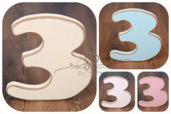 Číslo 3 - vanilka oblé hrany