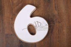 Číslo 6 - bílá oblé hrany