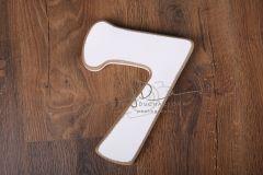 Číslo 7 - bílá oblé hrany velikost cca 25cm
