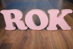 Nápis ROK - růžový