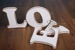 Nápis LOVE - bílý