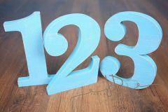 Sada číslic 1 až 3 - modrá patina