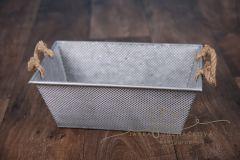 Truhlík plechový šedý provaz