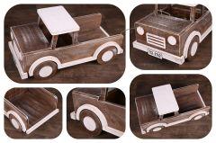 Auto s korbou - ořech patina s bílou - na objednávku