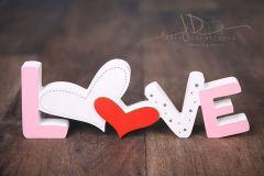 Nápis LOVE růžový